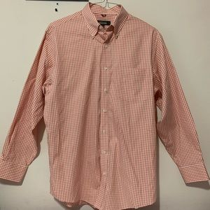 Kenneth Cole Reaction Large Plaid Orange White EUC